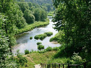 Jūros ir Akmenos santaka.Foto:Andrjusgeo at lt.wikipedia