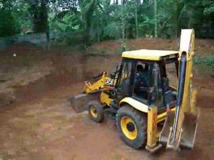 File:JCB Backhoe loader operation - 2.ogv