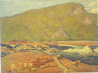 Gatineau River - J. E. H. MacDonald, Logs on the Gatineu, 1915. Remai Modern Art Gallery of Saskatchewan, Saskatoon