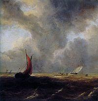 Jacob van Ruisdael - Sailing Vessels in a Choppy Sea.jpg