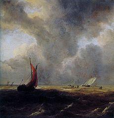 Sailing Vessels in a Choppy Sea