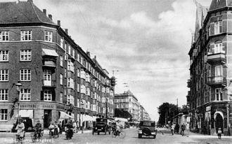 Jagtvej - Jagtvej viewed from present-day Nuuks Plads in the 1900s