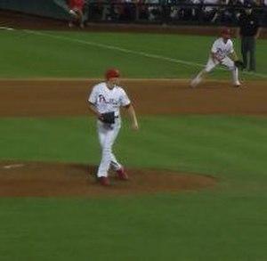 Jake Diekman - Diekman follows through after throwing a pitch in a game on September 7, 2013