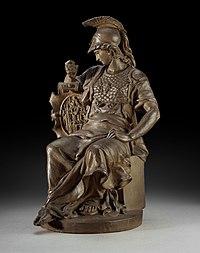 Jan Frans Deckers, Gehelmde Minerva- Minerve casquée, KBS-FRB.jpg