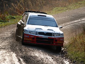 Jan Kopecký - Kopecký at the 2007 Wales Rally GB.
