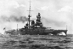 Japanese battleship Haruna - Haruna at sea.