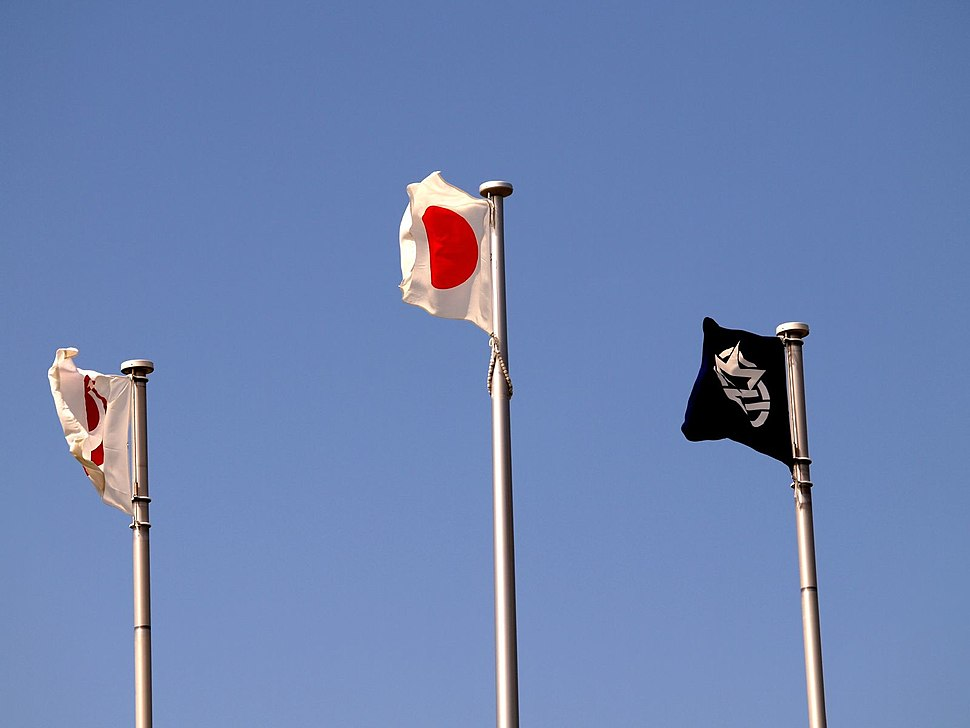 Japanese flags in Okinawa