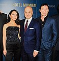 Jason Isaacs, Anupam Kher, Nazanin Boniadi (Hotel Mumbai Movie) Museum of Modern Art in March 2019.jpg