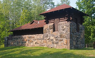 Jay Cooke State Park - 1934 water tower/latrine at Oldenburg Point