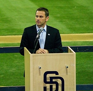 Jed Hoyer - Hoyer in 2011 with the Padres.