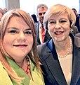 Jenniffer Gonzalez poses a photo with British PM May.jpg