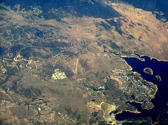 Jindabyne, New South Wales - Aerial view from east