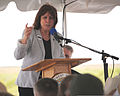 Jo-Ellen Darcy, the assistant secretary of the Army for Civil Works speaks at the Tamiami Trail One-Mile Bridge opening ceremony in Miami, Fla., March 19, 2013 130319-A-IO255-001.jpg