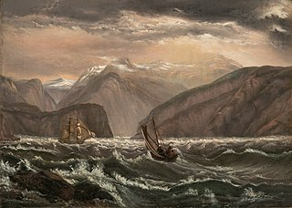 Ships in the Lærdalsfiord