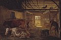 Johan Thomas Lundbye - A Cowshed on a Farm at Vejby, Zealand - KMS446 - Statens Museum for Kunst.jpg