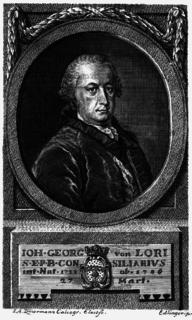 Johann Georg von Lori Bavarian high official, lawyer and historian