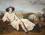 Goethe dans la   campagna romana   (Tischbein - 1786)