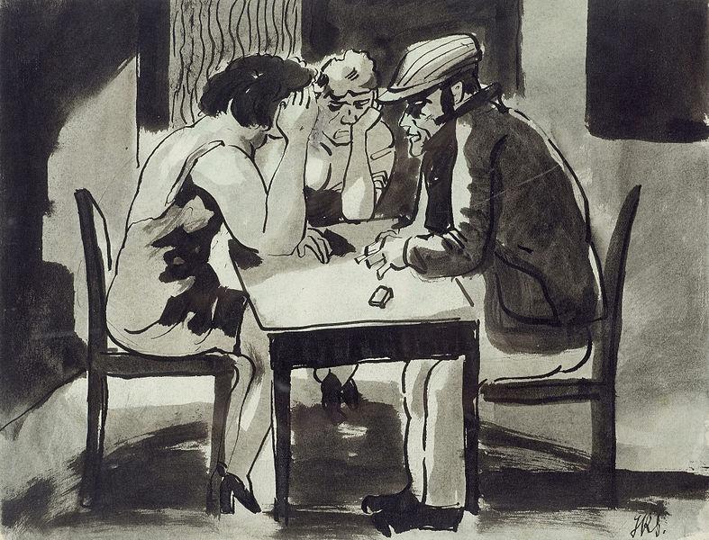 File Johann Robert Schürch Mann Mit Zwei Frauen Am Tisch