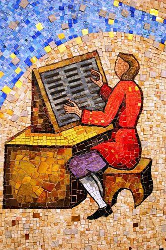 Prior Hall - 1st Floor Mural: Typesetter