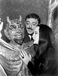 John Astin Carolyn Jones Addams Family 1965