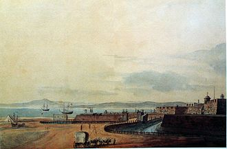 John Barrow, 1st Baronet - The Castle at Cape Town in about 1800, painted by John Barrow