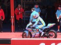 John Hopkins at the Rizla Suzuki MotoGP garage 2006 Mugello.jpg