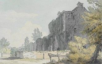 John White Abbott - Bickleigh Court in Mid Devon, watercolour of 1803, very much in Towne's style