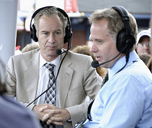 John and Patrick McEnroe at the 2009 US Open