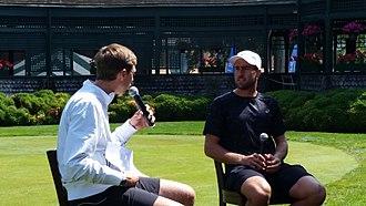 Steve Johnson (tennis) - Steve Johnson interviewed at the 2015 Hall of Fame Tennis Championships
