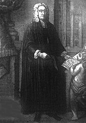 Jonathan Swift at the Deanery of St Patrick's, illus. from 1905 Temple Scott edition of Works (Source: Wikimedia)