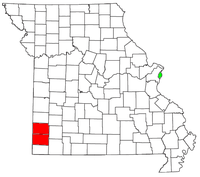 Map of Joplin, Missouri