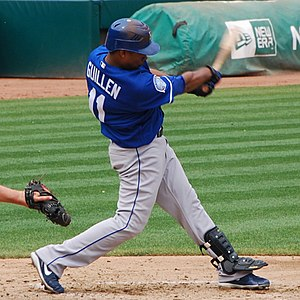 José Guillén - Guillén batting for the Kansas City Royals in 2009