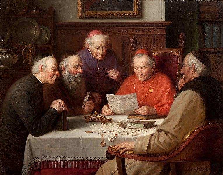 File:Josef Wagner-Höhenberg - Ein Treffen der Kardinäle.jpg