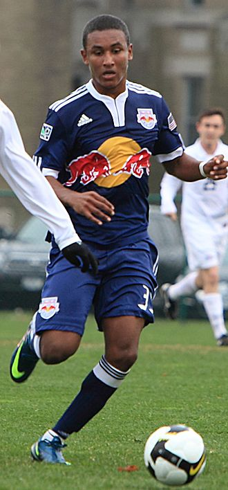Juan Agudelo - Agudelo playing for New York Red Bulls