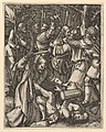 Judas kissing Christ surrounded by soldiers; St Peter attacking Malchus in foreground, after Dürer MET DP820316.jpg