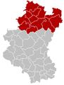 Judicial Arrondissement Marche-en-Famenne Belgium Map.PNG