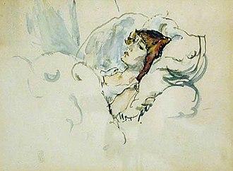 Hermine David - Jules Pascin, Hermine in bed