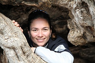 Julie Angus - Julie in an ancient olive tree