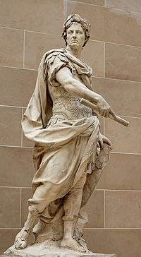 Statue de Jules César réalisée par Nicolas Coustou en 1713