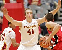 Justin Hamilton with Iowa State in 2009 vs Bradley.jpg
