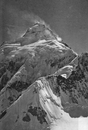 K2 - K2 from the east, photographed during the 1909 expedition