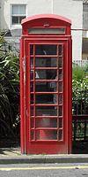 K6 Telephone Kiosk en Bedford Square kaj Reĝa vojo, Brajtono (S) (IoE Code 479461).jpg