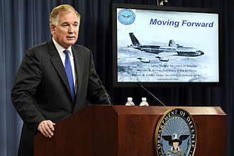 KC-X - Deputy Secretary of Defense William Lynn, speaks about KC-X at a press conference at the Pentagon on 24 September 2009.