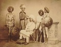 KITLV 101291 - Unknown - Prince of Sandur with retinue in India - Around 1880.tiff