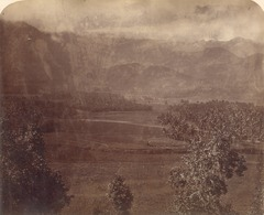 KITLV 90041 - Isidore van Kinsbergen - Mountains seen from the Borobudur near Magelang - Around 1880.tif