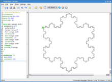 Kurs kturtle code rubrik koch schneeflocke wikiversity for Koch zeichnen