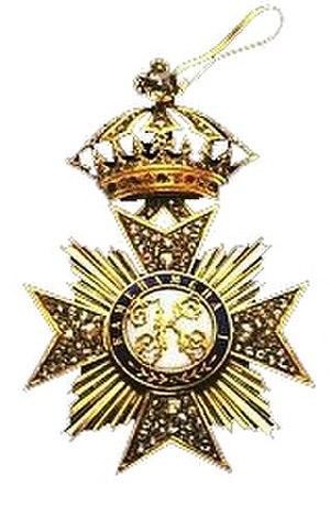 Royal Order of Kamehameha I (decoration) - Image: Kamehameha I knightgrandcrosssash badgeinbrilliants