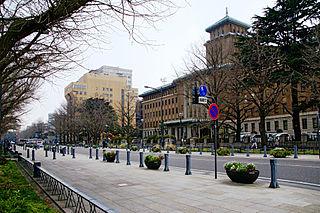Kannai town located in Naka-ku, Yokohama City, Kanagawa Prefecture, Japan