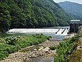 Kanidera hydroelectric power station weir.jpg