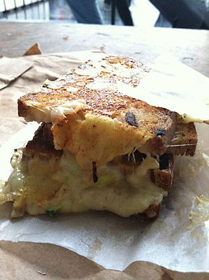 Kappacasein cheese toastie from Borough Market